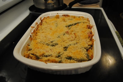 Finished casserole in dish