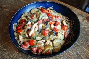Tomato and Zucchini Pasta